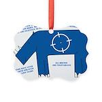 Rhino Facts Picture Ornament