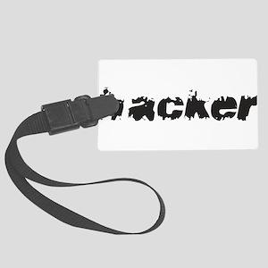 Hacker Large Luggage Tag