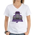 Trucker Regina Women's V-Neck T-Shirt