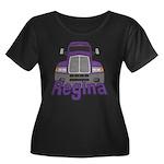 Trucker Regina Women's Plus Size Scoop Neck Dark T