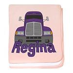 Trucker Regina baby blanket