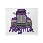 Trucker Regina Throw Blanket