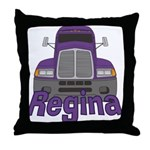 Trucker Regina Throw Pillow