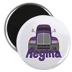 Trucker Regina Magnet