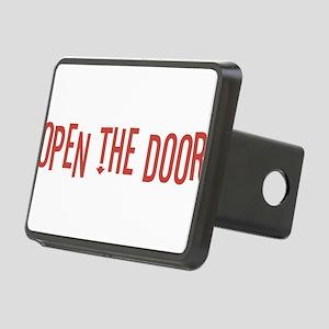 Open the Door Rectangular Hitch Cover