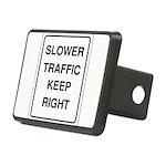 Slower Traffic 10 Rectangular Hitch Cover