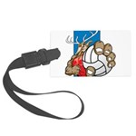 Bucks County Volleyball Large Luggage Tag
