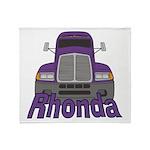Trucker Rhonda Throw Blanket