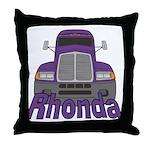 Trucker Rhonda Throw Pillow