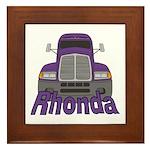 Trucker Rhonda Framed Tile