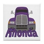 Trucker Rhonda Tile Coaster