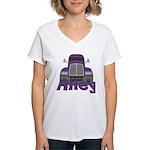 Trucker Riley Women's V-Neck T-Shirt