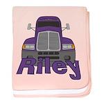 Trucker Riley baby blanket