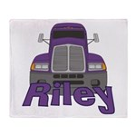 Trucker Riley Throw Blanket