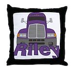 Trucker Riley Throw Pillow