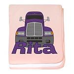 Trucker Rita baby blanket