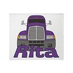 Trucker Rita Throw Blanket