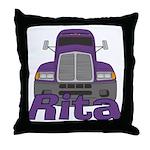 Trucker Rita Throw Pillow