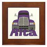 Trucker Rita Framed Tile