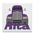 Trucker Rita Tile Coaster