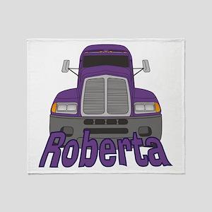 Trucker Roberta Throw Blanket
