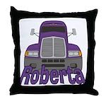 Trucker Roberta Throw Pillow