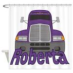 Trucker Roberta Shower Curtain