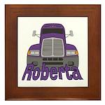 Trucker Roberta Framed Tile