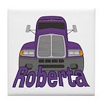 Trucker Roberta Tile Coaster