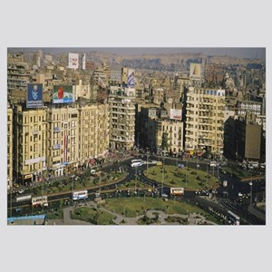 High angle view of traffic in a city, Cairo, Egypt