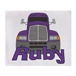 Trucker Ruby Throw Blanket
