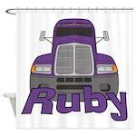 Trucker Ruby Shower Curtain