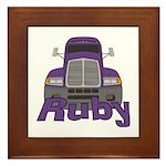 Trucker Ruby Framed Tile