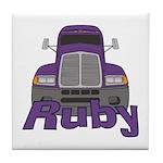 Trucker Ruby Tile Coaster