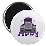 Trucker Ruby Magnet