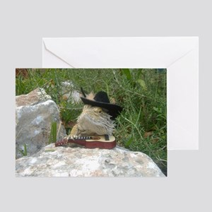 Musician Spiny the Lizard Greeting Card