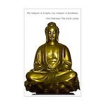 Poster with Buddha Image and Dalai Lama Quote