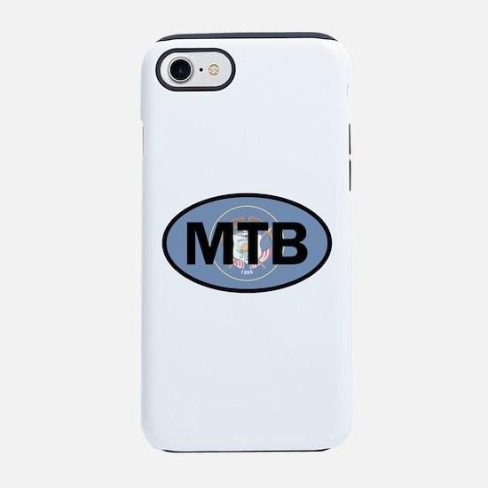 Mountain Biking Utah Flag iPhone 7 Tough Case
