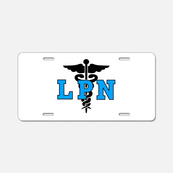 LPN Medical Symbol Aluminum License Plate