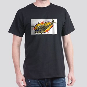 Helicopter11 Black T-Shirt