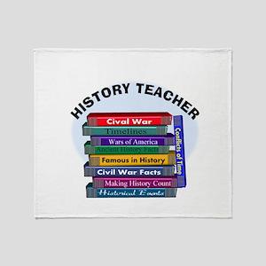hISTORY TEACHER Throw Blanket