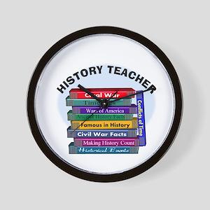 hISTORY TEACHER Wall Clock