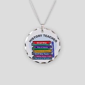 hISTORY TEACHER Necklace Circle Charm