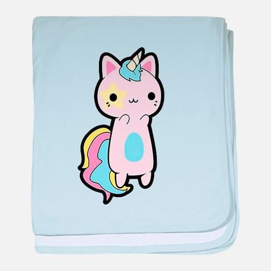 Unicorn Cat baby blanket