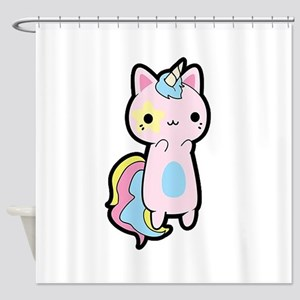 Unicorn Cat Shower Curtain