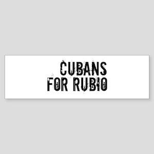 Cubans For Rubio Sticker (Bumper)