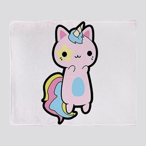 Unicorn Cat Throw Blanket