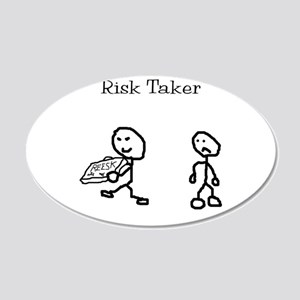 Risk Taker 20x12 Oval Wall Decal