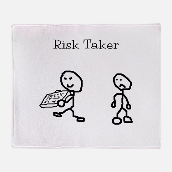 Risk Taker Throw Blanket