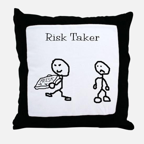 Risk Taker Throw Pillow